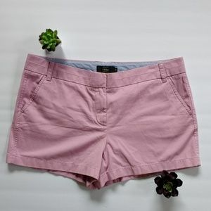 "J. Crew 4"" Chino shorts size 16 Pink"